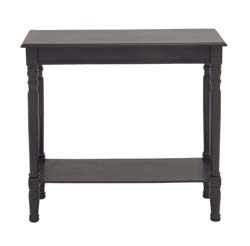 Pandarus Black Polished Wood Console Table