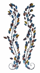 Raleigh Colorful Leaf Wall Swags 14x58 Set 2