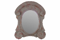Belvedere Wood Antique Mirror