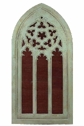 Napoleon Medieval Inspired Arc Wood Mirror