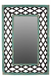 Homan Rectangular Wood Mirror