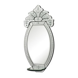 Wendall-Mini Venetian Mirror With Shelf