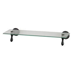 Glass Shelf With Oil Rubbed Bronze Accents