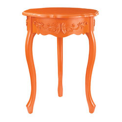 Accent Table In Orange