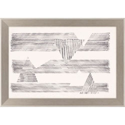 Stagger Triangles II Wall Art