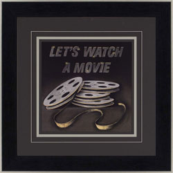 Let's Watch a Movie Wall Art