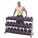 Body-Solid Three Tier Pro Dumbbell Rack