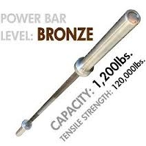 Olympic Power Bar- 7Ft.- 1200 lb Capacity (Bronze)