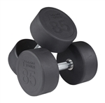 body solid Commercial Rubber Round Dumbbells