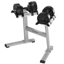 StairMaster Pair of TwistLock Adjustable Dumbbells w/ Stand!