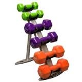 Vinyl Dumbbell Rack Package