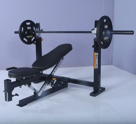weight workbench weights plated excellent powertec coinn fashionable loaded condition bench site olympic