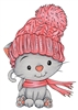 1250-01 Winter Cat with Hat