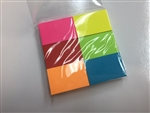 "6 pads of 100 each 2"" x 1.5"" Bright Sticky-Notes"