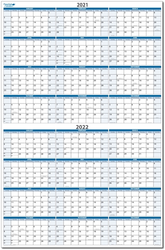 2 year at a view Horizontal Erasable Wall Calendar