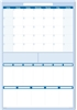 "Sticky-Note 30-day 7/5 column Task Manager 19"" x 24"". Dry-Erasable"