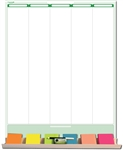 "Sticky-Note 5-Column Task Planner 19"" wide X 24"" tall - Dry Erasable"