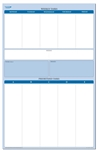 "Sticky-Note Personal Wall Planner 24"" wide x 38"" tall - Dry Erasable"