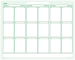 "Sticky-Note Priority Task Planner 24"" wide x 38"" tall - Dry Erasable"