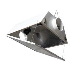 Hydro Crunch Double Ended Large Air Cooled with 6-inch Duct & Glass Panel Grow Light Reflector