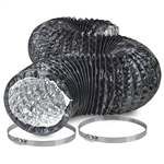 "Hydro Crunch 8"" Light Proof Ducting w/ Ducting Clamps"