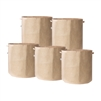 Hydro Crunch 19 in. x 19 in. 25 Gal. Breathable Fabric Pot Bags with Handles Tan Felt Grow Pot (5-Pack)