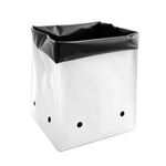 Hydro Crunch 1/2 Gal. B&W PE Grow Bag Set (100-Pack)
