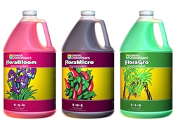 General Hydroponics Flora Series 1 Gallon - FloraGro, FloraBloom, and FloraMicro