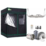 1000-Watt DE Equivalent Full Spectrum Horticulture Plant Grow Light Fixture with Grow Tent and Ventilation System