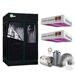 1200-Watt Equivalent Grow/Bloom Full Spectrum LED Plant Grow Light Fixture with Grow Tent and Ventilation System