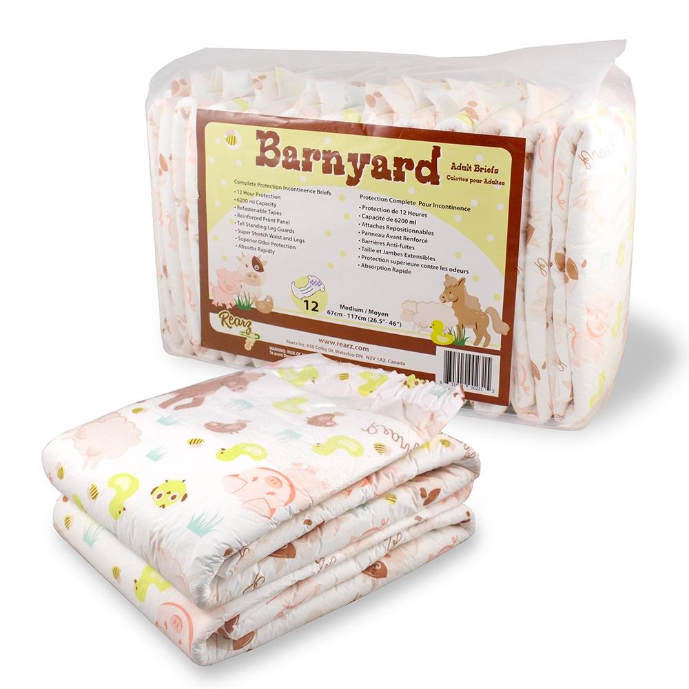 Barnyard Disposable Diapers, Case 36
