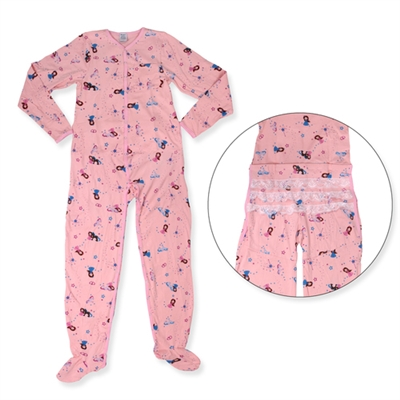 Princess Pink Jammies W/ Drop Seat