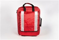 Red Rucksack bag empty
