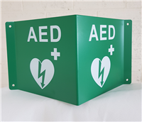 Panoramic AED Sign - Aluminium