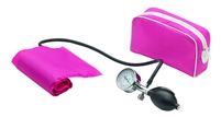 One Tube Manual Blood Pressure Monitor - Pink Sphygmomanometer