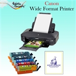 Canon Wide Format Printer with XL Refillable Edible Ink Cartridge Combo / 24 KopyKake Frosting Sheets