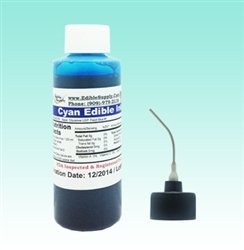 2 oz - Cyan Edible Ink Refill Bottle for Canon Printer