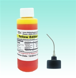 2 oz - Yellow Edible Ink Refill Bottle for Canon Printer