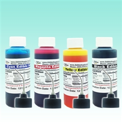 9 oz - Black/Cyan/Magenta/Yellow Edible Ink Refill Bottle Combo for Canon Printer
