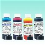 4 oz - Black/Cyan/Magenta/Yellow Edible Ink Refill Bottle Combo for Epson Printer