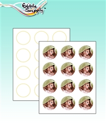 "Edible Supply® Fondant Edible Paper - 2"" Circles (12 Sheets Per Pack)"