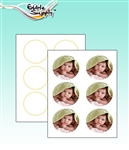 "Edible Supply® Fondant Edible Paper - 3"" Circles (12 Sheets Per Pack)"