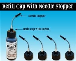 Edible Supply® Refill Bottle Caps with Needle and Stopper