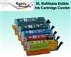 Refillable PGI-250BK / CLI-251CMYK XL Edible Cartridge Set