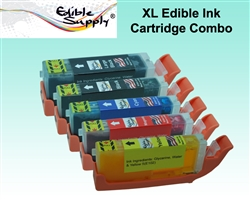 Standard PGI-250K / CLI-251CMYK XL Edible Cartridge Set