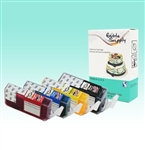 Standard PGI-5/ CLI-8 CMY Edible SPONGE-FREE Cartridge Set