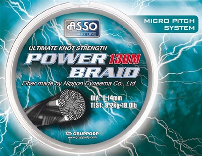 ASSO Power Braid - Black - 140 yds.