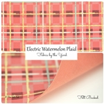 Electric Watermelon Plaid