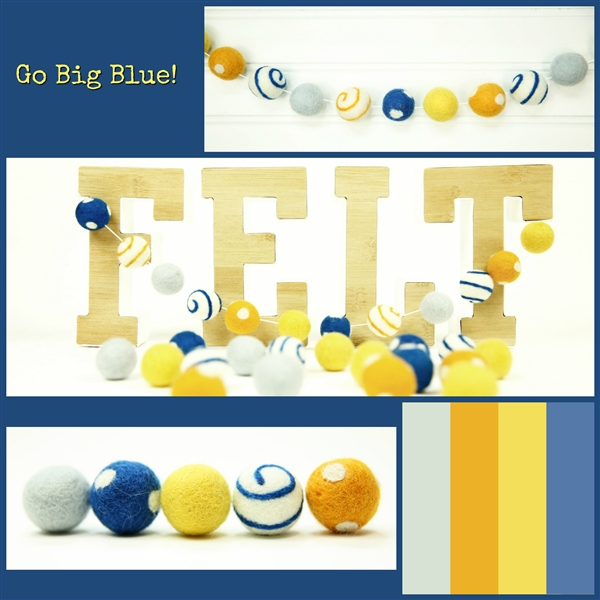 Felt Balls MIX -  Go Big Blue