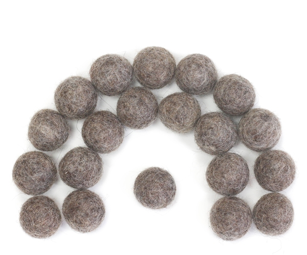 Felt Balls - Brown Tweed